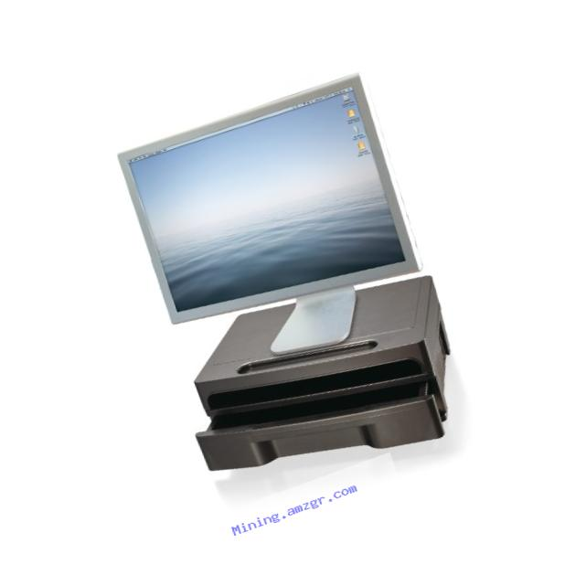 Officemate 2200 Series Monitor Stand with Drawer, Black (22502)