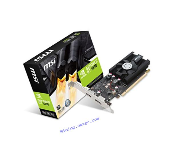 MSI Graphic Cards GT 1030 2G LP OC