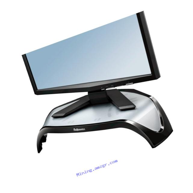 Fellowes Smart Suites Corner Monitor Riser, Black (8020101)