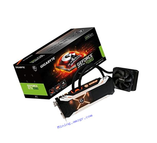 Gigabyte GeForce GTX 1080 XTREME Gaming Water Cooling Video Card (GV-N1080XTREME W-8GD)