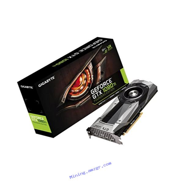 Gigabyte Geforce GTX 1080 Ti Founders Edition Video Card (GV-N108TD5X-B)