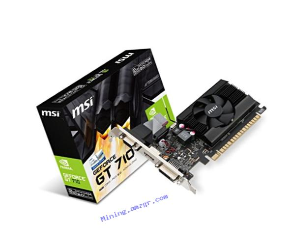 MSI Computer VGA Graphic Card GT 710 2GD3 LP