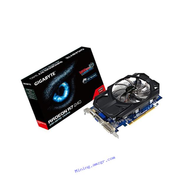 Gigabyte AMD Radeon R7 240 DDR3-2GB DVI-D/HDMI/D-SUB OC Video Graphics Cards GV-R724OC-2GI REV2.0